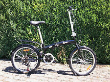 Klappfahrrad Klapprad  20 Zoll /16kg/ 6 GangFaltrad Camping /schwarz oder silber