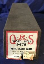 RP2731 Vtg Q.R.S. QRS Word Roll Player Piano Music Roll 9478 White Silver Sands