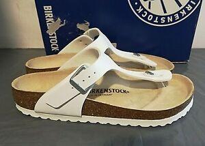 BIRKENSTOCK Gizeh BS Thong Sandal Birko-flor Regular Fit EU38/Wm 7 White - 1G_08