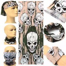 Sport Bicycle Bike Ski Skull Half Face Mask Ghost Scarf Neck Warmer Multi Use US