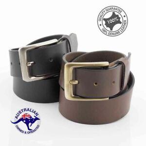 Men's Premium Full Grain Buffalo Leather Belt Casual/Dress Belt