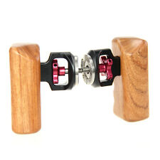 2x CAMVATE Handgrip Wooden M6 Thread for DLSR TILTA ARRI ALEXA Camera Cage Rig
