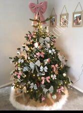 Handmade Luxury Pink Oversized Super Soft Velvet Christmas Tree Bow Topper