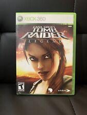 Tomb Raider Legend Xbox 360 Game Complete Lara Croft Legends