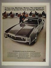 Oldsobile Toronado PRINT AD - 1969 ~~ 1970 model