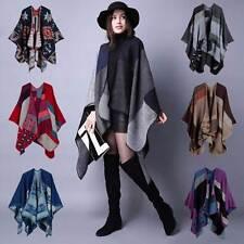 Cashmere Scarf Patchwork Poncho Cape Wrap Shawl Blanket Cloak Winter New Trend