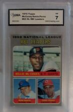 1970 TOPPS MCCOVEY/SANTO/PEREZ NL RBI LEADERS CARD #63- GRADED NM 7