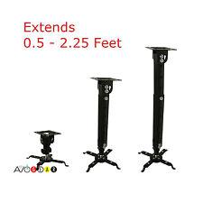 Universal LCD DLP Projector Tilt Adjustable Ceiling Mount Bracket, Cable Manage