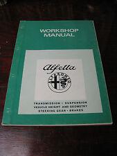 ALFA  ROMEO  ALFETTA WORKSHOP  MANUAL PUBLIC No. 2064 ORIGINALE 1975  NICE!