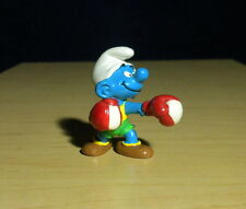 Smurfs Boxer Smurf 20419 Red Boxing Gloves PVC Figure 80s Vintage Toy Figurine