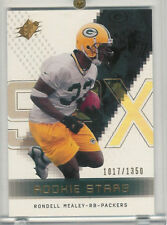 2000 SPX ROOKIE STARS RONDELL MEALEY PACKERS RC /1350