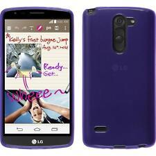 Lg G3 Stylus TPU funda cover transparente Púrpura protector de pantalla