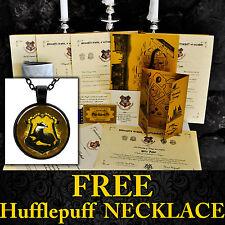 Harry Potter HUFFLEPUFF Personalised Gift-Marauders-Hogwarts Acceptance Letter