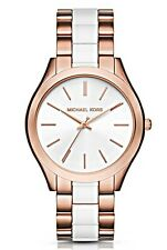 Michael Kors  - Ladies Slim Runway Acetate Rose Gold-Tone Watch  - MK4311