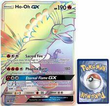 Ho-oh GX SM80 Rainbow Rare JUMBO Pokemon Promo Card (Shining Legends Promo)