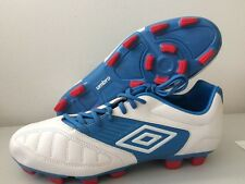 Umbro Geometra Premier Football Boots FG Blue White Leather 80379U-5CT UK 9.5