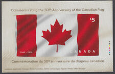 Canada- #2808  50th Anniversary FLAG - Canada's First Fabric Stamp Sheet -MNH