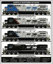 Norfolk Southern AC44 Diesel Collection RAILROAD TIN SIGN / NS Train Decoration