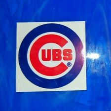 """Unused VINTAGE Chicago Cubs 3"""" Circular Logo Sticker from mid 1990s"""