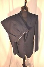 """Vintage navy blue wool single breasted 2 piece suit chest 40"""" W 32"""" 60's mod"""
