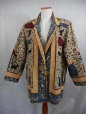 "Vtg PAINTED PONY sz M Tapestry Blazer Coat 46"" Bust BEE Hive HONEY Farmer CAT"