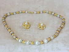 RARE 1960s NECKLACE AND EARRINGS DEMI PARURE BY  CHRISTIAN DIOR SUPERB QUALITY