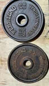 Vintage Ferrigno 25lbs Pair Olympic Weights 2 Inch