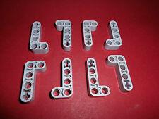 Lego Technic (32140) 8 Liftarme 2x4 L-Form, in hellgrau aus 42043 8651 8109 8674