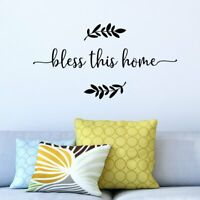 Bless This Home Quote Vinyl Wall Decal Sticker Art Words Lettering Decor