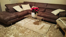 Tavolino comodino da salotto in plexiglass, H50xL50xP40 Spessore mm 10