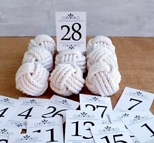 8 monkey fist knot table card holders plus complimentary table number cards