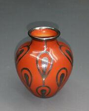 Vase mit Silver Overlay