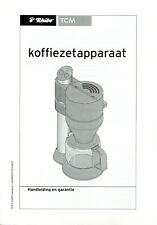 Handleiding Tchibo TCM NL Koffiezetapparaat Bedienungsanleitung instruction use
