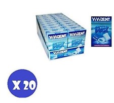 Vivident Blast Fresh Blue Astuccio - Gomme Chewingum - Confezione da 20 Pezzi