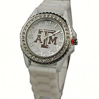 Texas A&M  Licensed Aggie Silicone Watch (White)