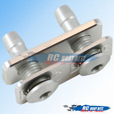 RC Boat Dual water outlet for large hose silver 521B51
