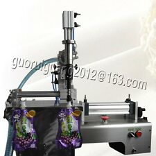 standing pouch filler,single nozzle liquid sauce filling machine 10-300ML