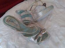 zoccoli sandali sabot 39 donna tacco zeppa