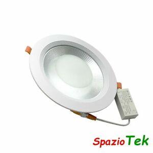 Faretto da Incasso 30W COB LED 220V diametro 225mm luce faro 30watt foro 195-215