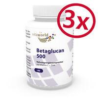 Vita World 3er Pack Beta Glucan 500mg (24,10€/100g) 3 x 90 Kapseln Betaglucan