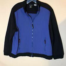Sport Elle Women's Large Black & Purple Zip-up Windbreaker/Jacket