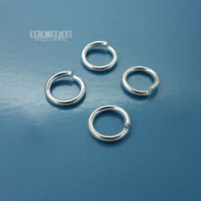 4PC Solid Sterling Silver 10mm 15 Gauge 1.5mm HD Open Jump Ring Connector #33104