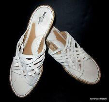 BORN Drilles Wedge Heels Womens US 11 M Shoes Cream Leather Strappy Sandals
