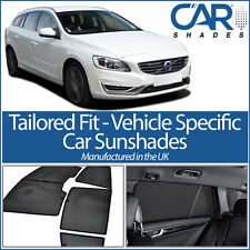 Volvo V60 Estate 2010> UV CAR SHADES WINDOW SUN BLINDS PRIVACY GLASS TINT BLACK