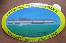 Seezielflugkörper MBB KORMORAN 2 Amts Truppenerprobung 1988 Aufkleber Sticker