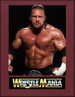 Triple H HHH Wrestling Legend Display Mounted Photograph A4 Retro Gift