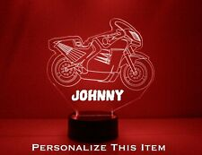 Motorcycle Personalized LED 16 Color Changing Night Light w/remote Sports Bike