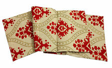 Jute Anahi Collection Printed Natural Table Runner 16x72 inches Scroll Gold Red