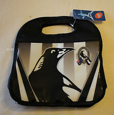 Collingwood Magpies AFL Black Printed Insulated Carry Lunch Box Cooler Bag New