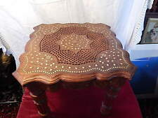 Coffee Table Hand Carved Indian Decorative Brass Work Utility Square 44cm sq